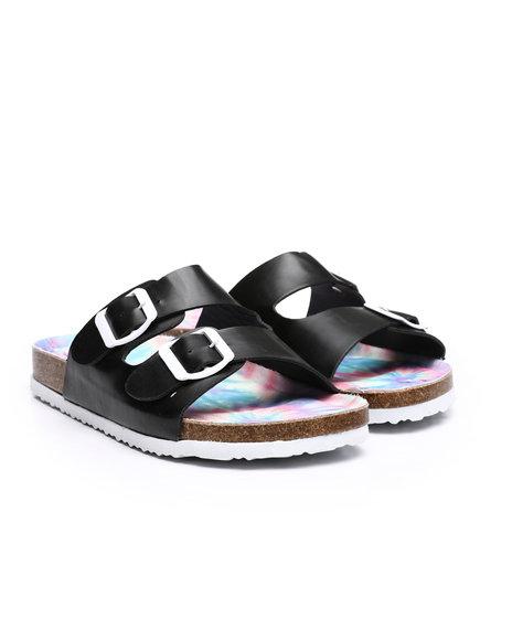 Fashion Lab - Double Strap Slip On Sandals