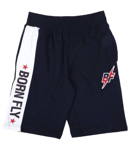 Born Fly - Stripe Loop Back Shorts (8-20)