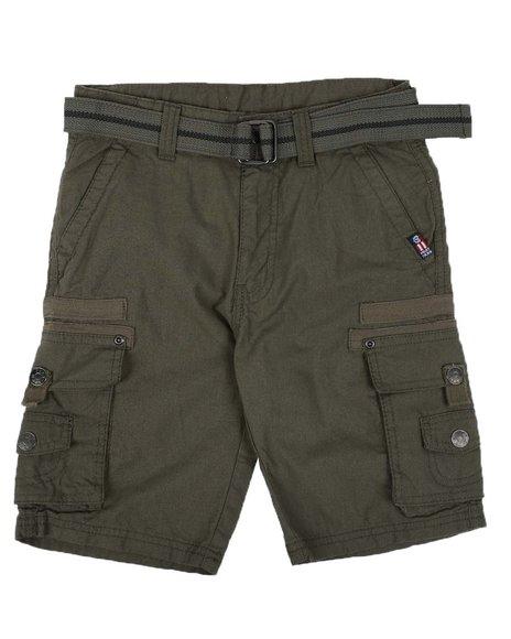Phat Farm - Washed Poplin Cargo Shorts W/ Herringbone Tape Trim (8-18)