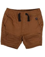 Bottoms - Stretch Pull On Twill Moto Shorts (4-7)-2632435