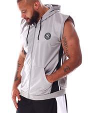 Hoodies - Tricot Zip Sleeveless Hooded Top (B&T)-2634334