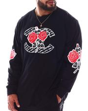 Crooks & Castles - Roses Long Sleeve T-Shirt (B&T)-2634350