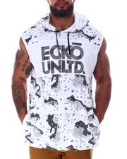 Ecko - Camel Camo Sleeveless Knit Hooded Top (B&T)-2635506