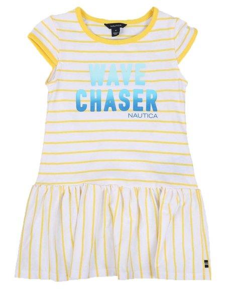 Nautica - Striped Dress W/ Ombre Graphic (4-6X)