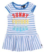Girls - Striped Dress W/ Ombre Graphic (2T-4T)-2634035