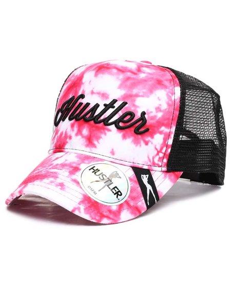 Hustler - Tie Dye Meshback W/ Script Logo Hat