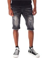 Copper Rivet - Clean Rip with Fully Brushed Denim Shorts-2635539