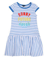 Dresses - Striped Dress W/ Ombre Graphic (7-16)-2634039