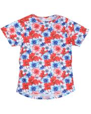 T-Shirts - Americana Floral Sublimated Tee (8-20)-2634067