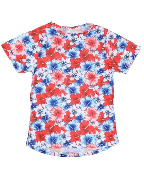 Arcade Styles - Americana Floral Sublimated Tee (8-20)