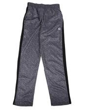 Activewear - Marled Tech Trainer Pants W/ Popcorn Mesh Insert (8-20)-2632296