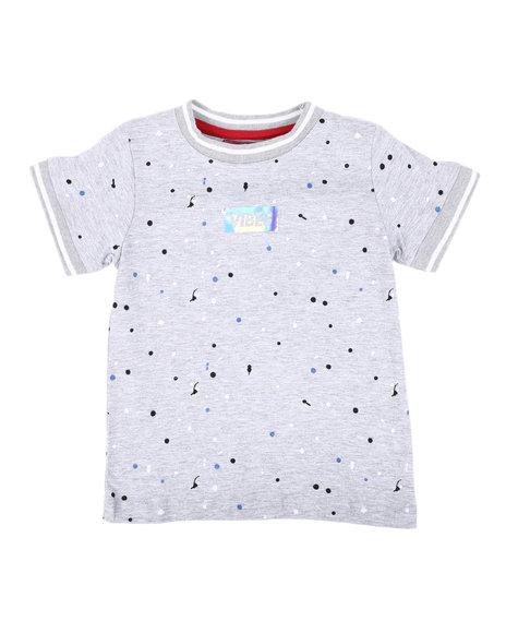 Arcade Styles - Vibes Box Logo Paint Splatter T-Shirt (2T-4T)