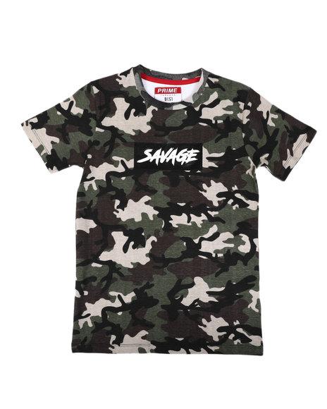 Arcade Styles - Savage Camo Print T-Shirt (8-20)