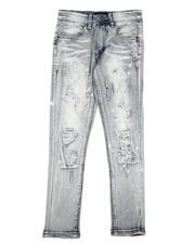Bottoms - Paint Splatter Distressed Jeans (8-20)-2635246