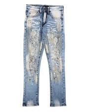 Bottoms - Paint Splatter Distressed Jeans (8-20)-2635254