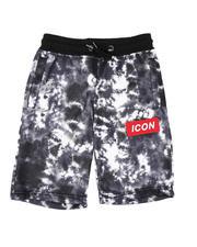Bottoms - Icon Tie Dye Fleece Shorts (8-18)-2635327