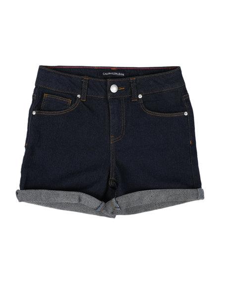 Calvin Klein - Cuff Denim Shorts (7-16)