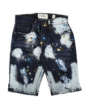 Bottoms - Bleach Splatter Denim Shorts (8-20)-2635297