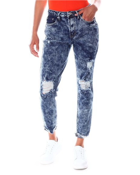 Fashion Lab - Acid Wash Distressed Skinny Jeans