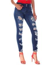 Bottoms - Distressed Skinny Jeans-2635101
