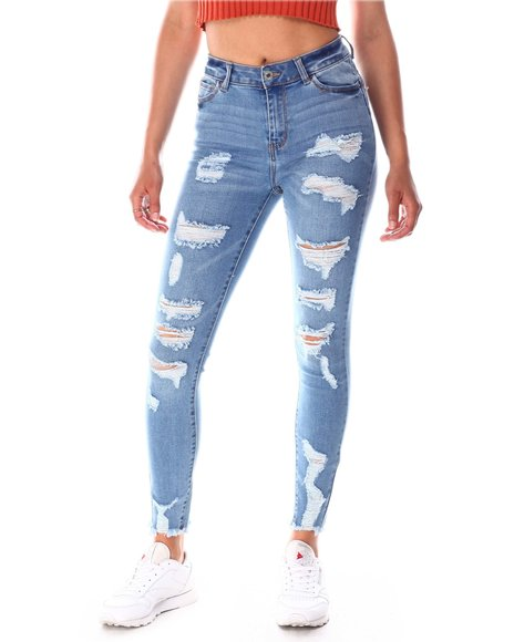 Fashion Lab - High Rise Ripped Jeans