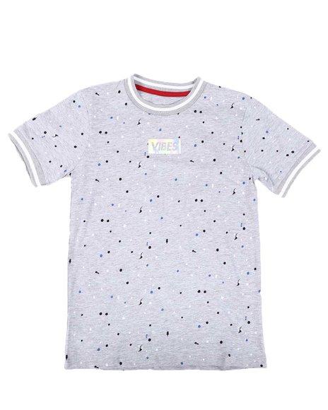 Arcade Styles - Vibes Box Logo Paint Splatter T-Shirt (8-18)