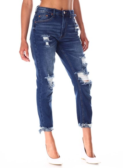 Fashion Lab - Distressed Skinny Jeans  W/Frey Hem