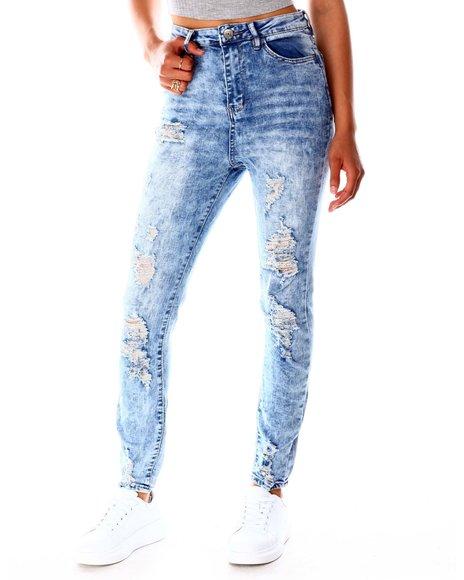 Fashion Lab - High Waist Distressed Jeans