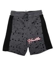 Arcade Styles - Hustle Paint Splatter Fleece Shorts (4-7)-2636384