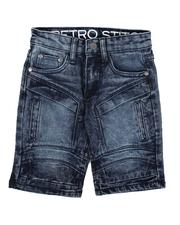 Bottoms - Cut & Sew Panel W/ Articulated Knee Denim Shorts (4-7)-2636509