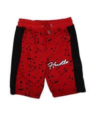 Shorts - Hustle Paint Splatter Fleece Shorts (8-18)-2636398