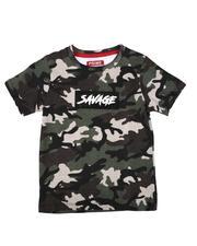 T-Shirts - Savage Camo Print T-Shirt (4-7)-2636423