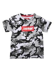 T-Shirts - Savage Camo Print T-Shirt (4-7)-2636428