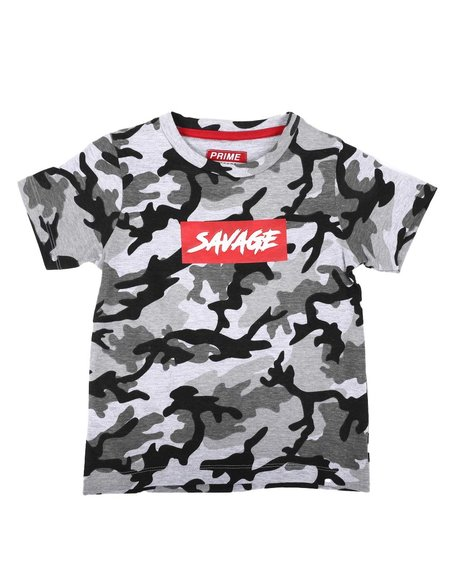 Arcade Styles - Savage Camo Print T-Shirt (4-7)