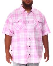 Button-downs - Yarn Dyed Plaid Woven Shirt (B&T)-2631899