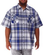 Short-Sleeve - Plaid Woven Shirt (B&T)-2632187