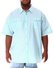 Short-Sleeve - Striped Woven Shirt (B&T)-2634489