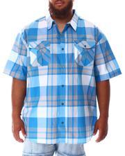 Short-Sleeve - Plaid Woven Shirt (B&T)-2634498