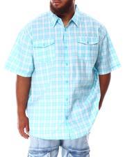Short-Sleeve - Plaid Woven Shirt (B&T)-2634522