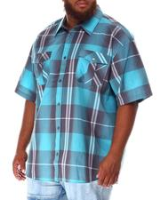 Short-Sleeve - Plaid Woven Shirt (B&T)-2634553