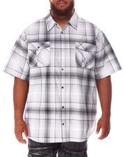 Short-Sleeve - Plaid Woven Shirt (B&T)-2631989