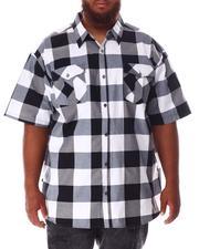 Short-Sleeve - Plaid Woven Shirt (B&T)-2632116