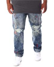 Jordan Craig - Washed Rip & Tear Distressed Denim Jeans (B&T)-2634414