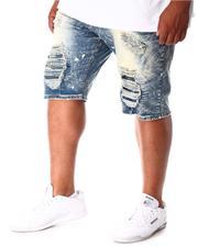 Makobi - Shredded Distressed Denim Shorts (B&T)-2634467