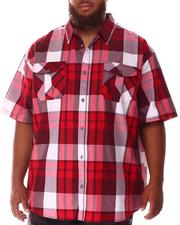 Short-Sleeve - Plaid Woven Shirt (B&T)-2634518