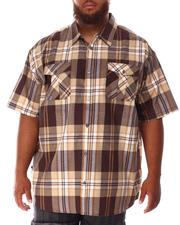 Button-downs - Yarn Dyed Plaid Woven Shirt (B&T)-2634530