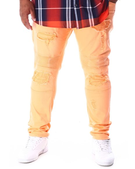 Makobi - Shredded Twill Jeans With Taping (B&T)