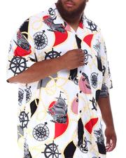 Button-downs - Voyage Pattern All Over Rayon Bowling Shirt (B&T)-2634494