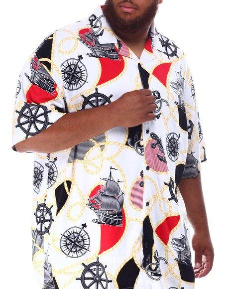 Buyers Picks - Voyage Pattern All Over Rayon Bowling Shirt (B&T)