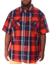 Short-Sleeve - Plaid Woven Shirt (B&T)-2634604